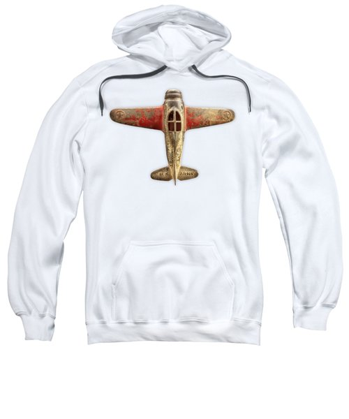 Airplane Scrapper On Color Paper Sweatshirt