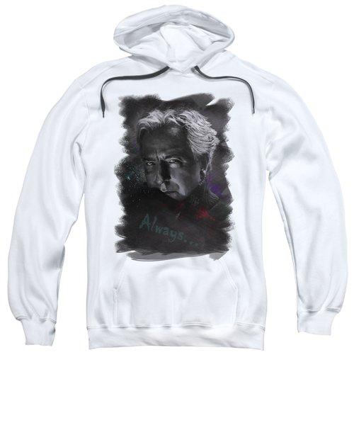 Sweatshirt featuring the drawing Alan Rickman by Julia Art