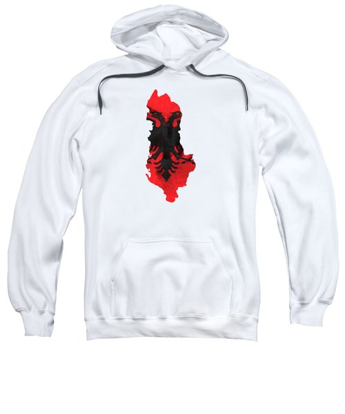 Albania Map Art With Flag Design Sweatshirt