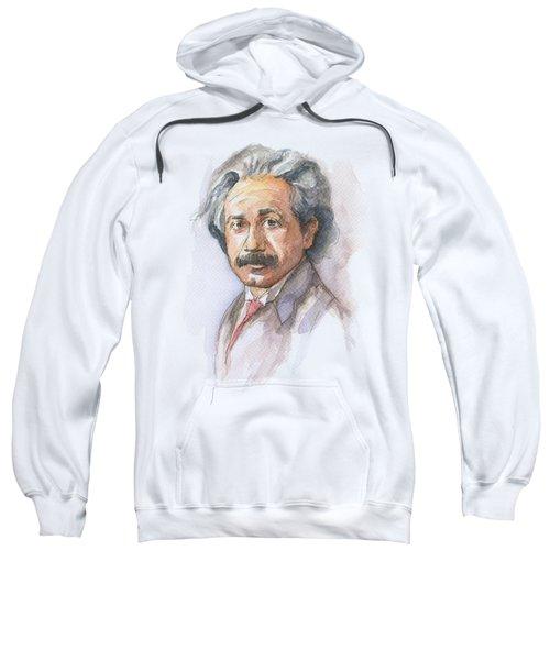 Albert Einstein Sweatshirt by Olga Shvartsur