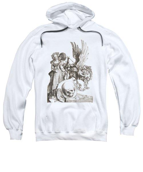 Albrecht Durer - Coat Of Arms With A Skull Sweatshirt