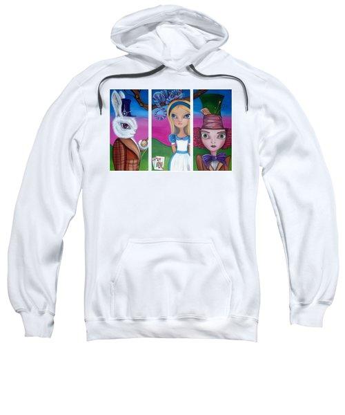 Alice In Wonderland Inspired Triptych Sweatshirt