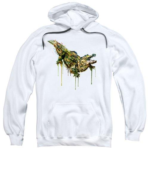 Alligator Watercolor Painting Sweatshirt