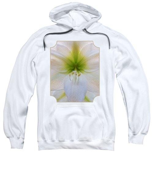 Alluring Amaryllis Vertical Sweatshirt