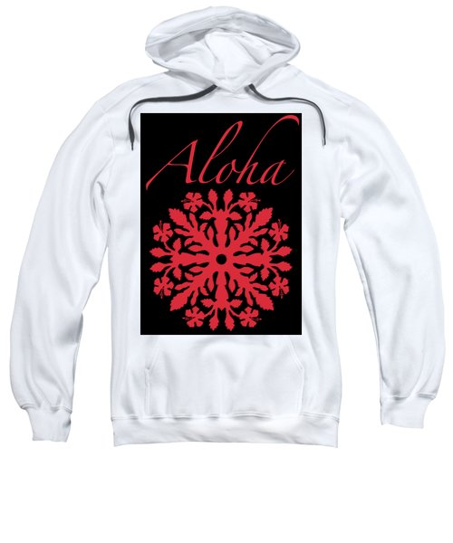 Aloha Red Hibiscus Quilt T-shirt Sweatshirt by James Temple
