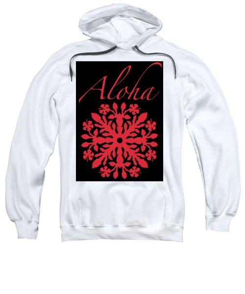 Aloha Red Hibiscus Quilt T-shirt Sweatshirt