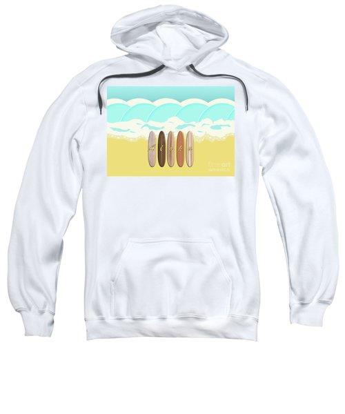 Aloha Surf Wave Beach Sweatshirt
