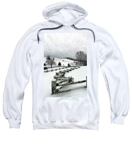 Along The Locust Rails In Winter Sweatshirt