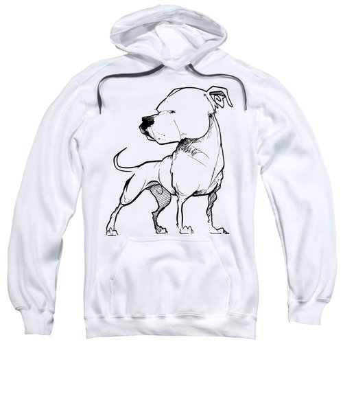 American Bulldog Gesture Sketch Sweatshirt