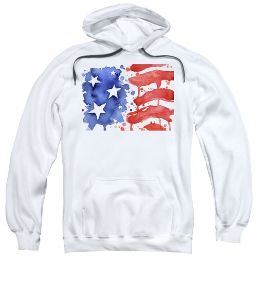 American Flag Watercolor Painting Sweatshirt