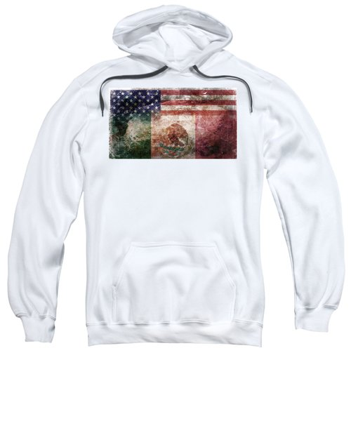 American Mexican Tattered Flag  Sweatshirt