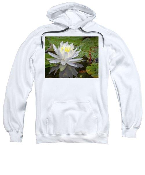 American White Water Lily Sweatshirt