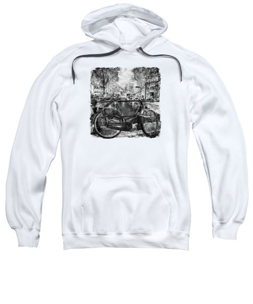 Amsterdam Bicycle Black And White Sweatshirt