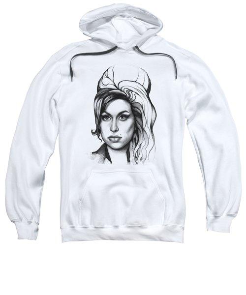 Amy Winehouse Sweatshirt by Olga Shvartsur