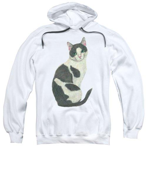 An Elegant Tuxedo Cat Sweatshirt
