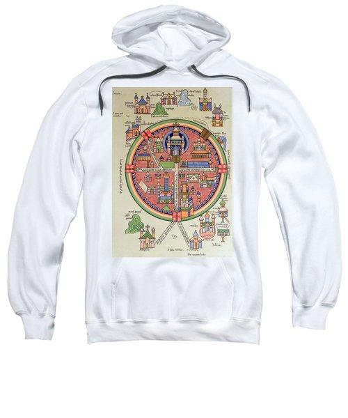 Ancient Map Of Jerusalem And Palestine Sweatshirt