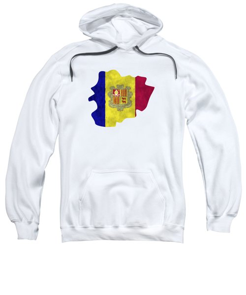 Andorra Map Art With Flag Design Sweatshirt