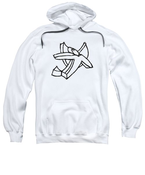 Sweatshirt featuring the drawing Angelic by Michelle Calkins