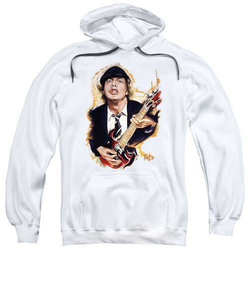 Angus Young Sweatshirt by Melanie D