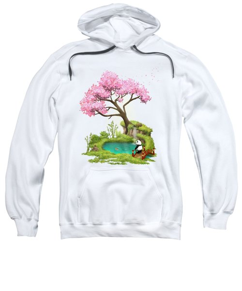 Anjing II - The Zen Garden Sweatshirt by Carlos M R Alves