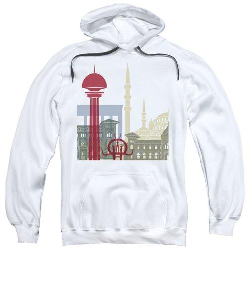 Ankara Skyline Poster Sweatshirt
