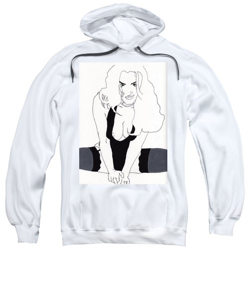 Anna-black Stockings Sweatshirt