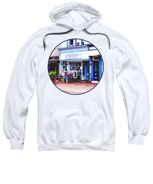 Annapolis Md - Shopping On Main Street Sweatshirt