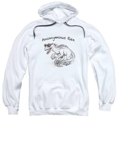 Sweatshirt featuring the drawing Anonymous Rex T-shirt by Aaron Spong