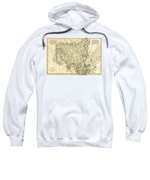 Antique Map Of Asia Sweatshirt