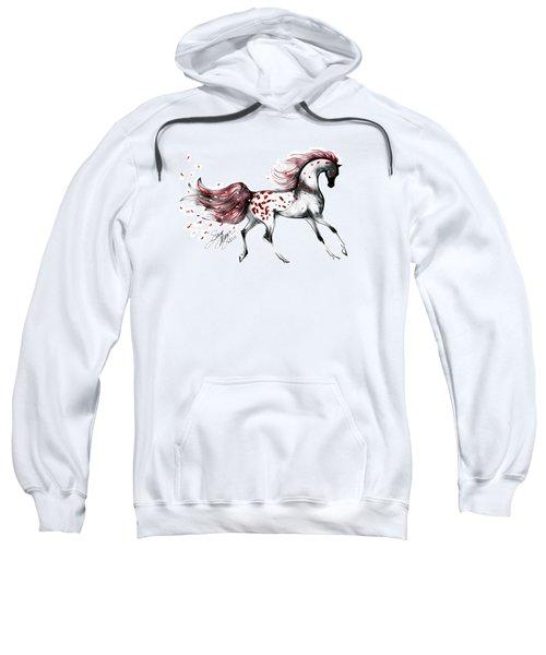 Appaloosa Rose Petals Horse Sweatshirt