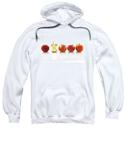 Apple Core Among Whole Apples Sweatshirt