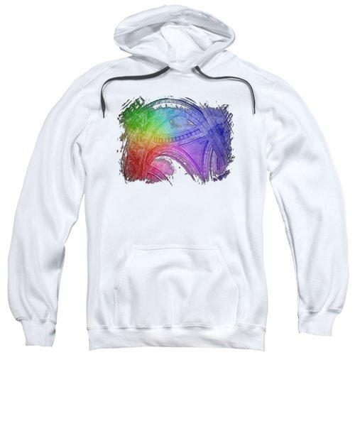 Arches Abound Cool Rainbow 3 Dimensional Sweatshirt