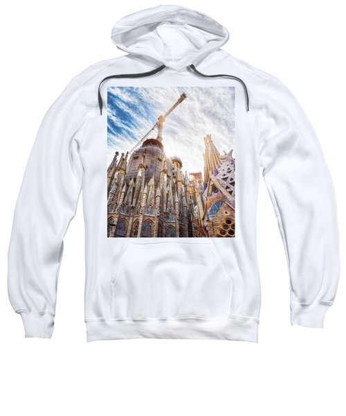 Architectural Details Of The Sagrada Familia In Barcelona Sweatshirt