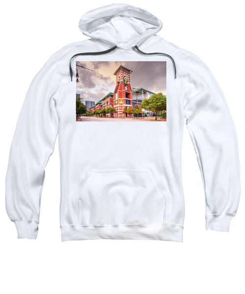Architectural Photograph Of Minute Maid Park Home Of The Astros - Downtown Houston Texas Sweatshirt