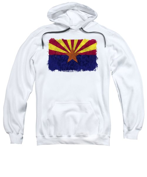 Arizona Flag Sweatshirt by World Art Prints And Designs
