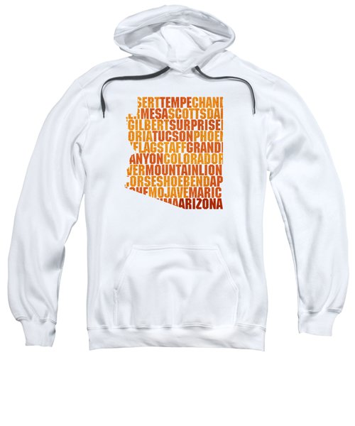 Arizona State Outline Word Map Sweatshirt