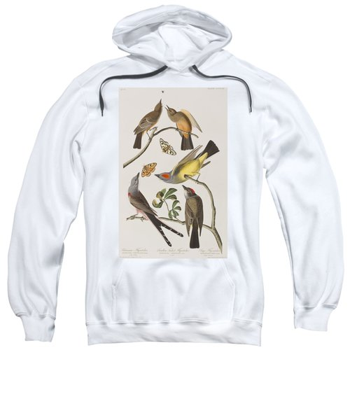 Arkansaw Flycatcher Swallow-tailed Flycatcher Says Flycatcher Sweatshirt by John James Audubon