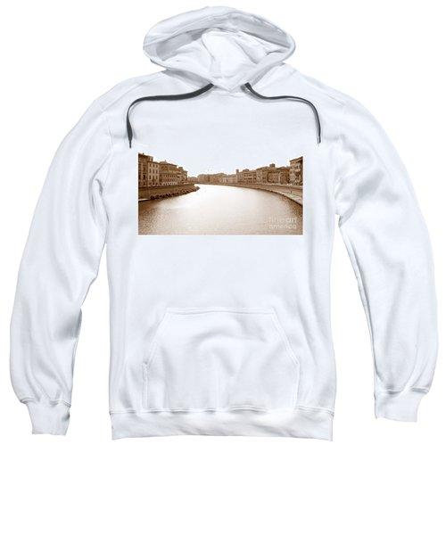 Arno River In Pisa Sweatshirt