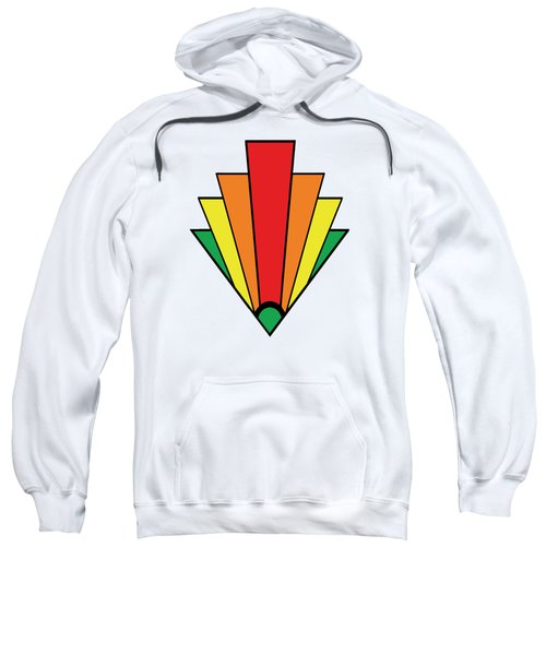 Art Deco Chevron Sweatshirt