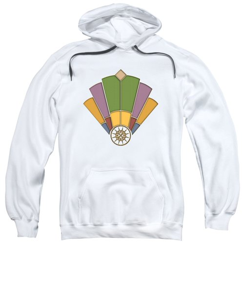 Art Deco Fan 2 Transparent Sweatshirt
