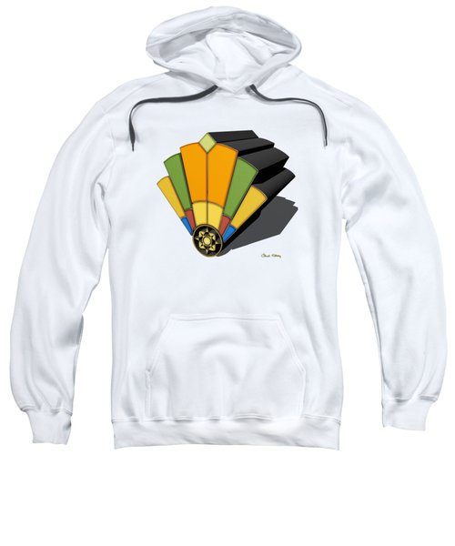 Art Deco Fan 8 3 D Sweatshirt
