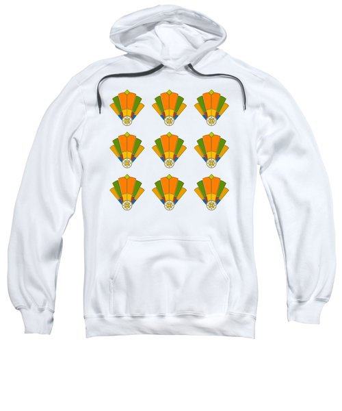 Art Deco Fan 8 Multiview Sweatshirt