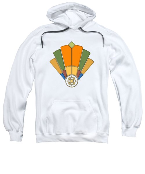 Art Deco Fan 8 Transparent Sweatshirt