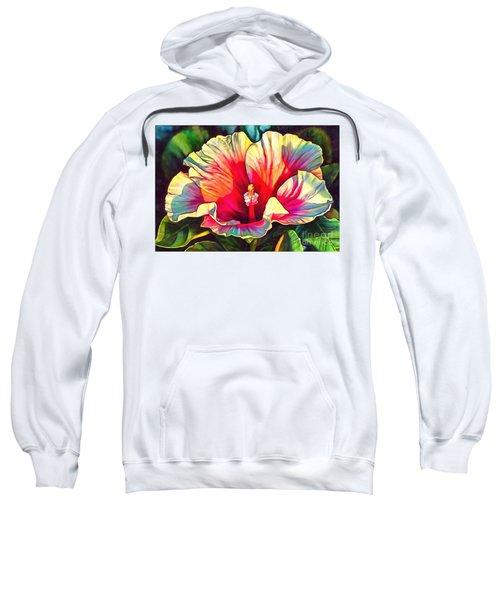 Art Floral Interior Design On Canvas Sweatshirt