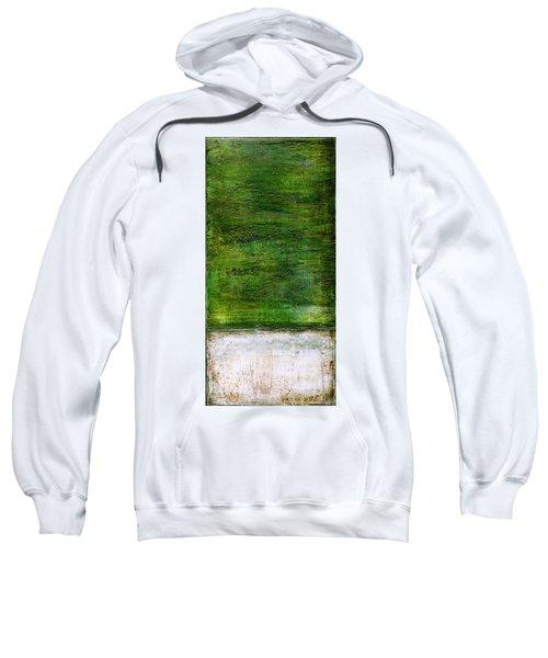 Art Print Green White Sweatshirt