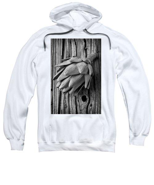 Artichoke In Black And White Sweatshirt by Garry Gay
