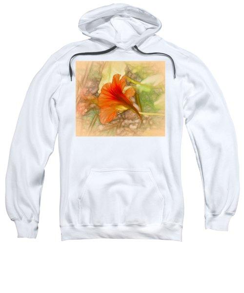 Artistic Red And Orange Sweatshirt