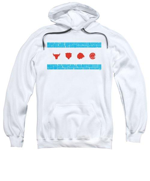 Chicago Flag Sports Teams Sweatshirt