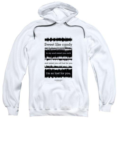 Lyrics Music Waveform Poster Sweatshirt
