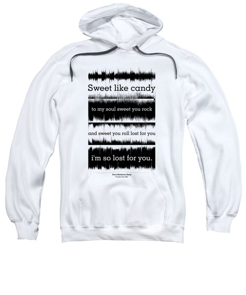 Lyrics Music Waveform Poster Sweatshirt